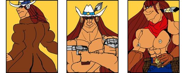 Image of Tala, the Female Bounty Hunter (set of 3)