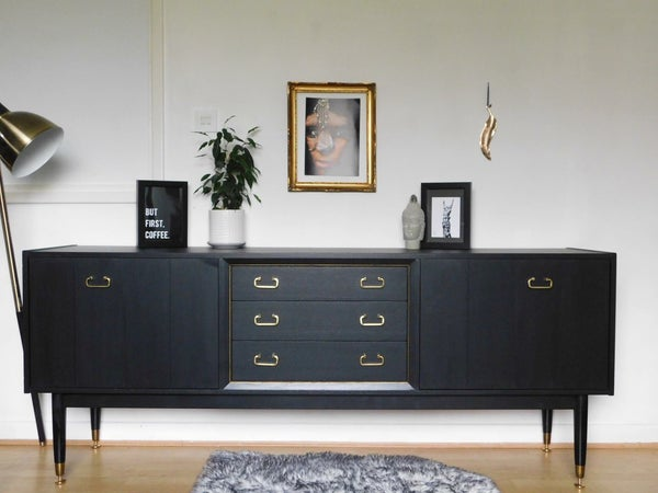 Image of A stunning Teak G plan sideboard in black