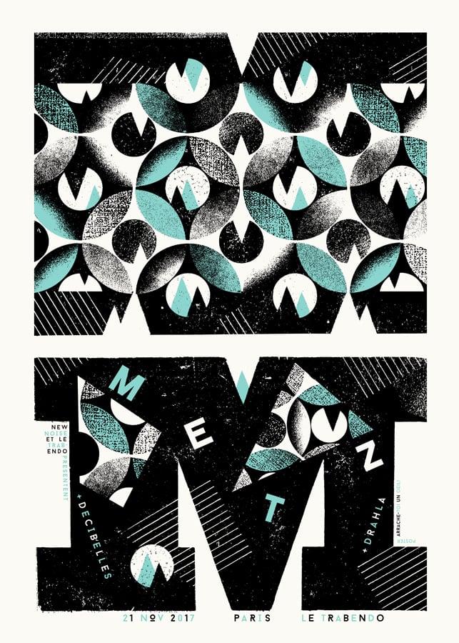 Image of METZ (Paris 2017) screenprinted poster