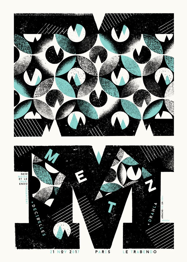 METZ (Paris 2017) screenprinted poster