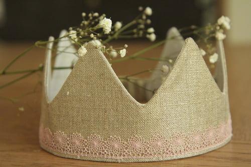 Image of Couronne Lin précieux + ruban