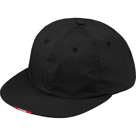 Image of Supreme - Nylon Visor Label 6-Panel (Black)