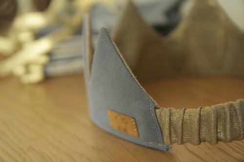 Image of Couronne Bleue Or précieux