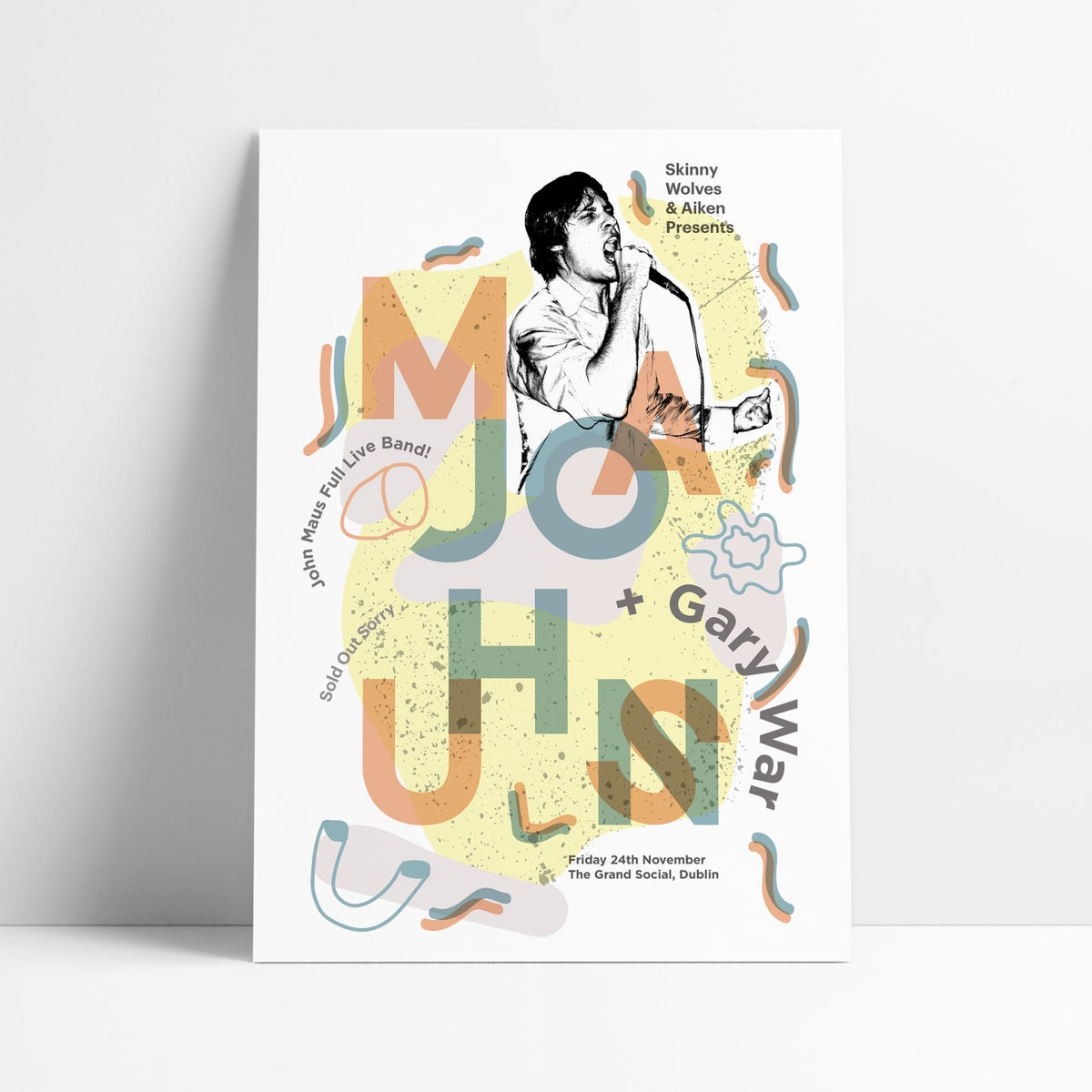 Image of JOHN MAUS - A2 Digital Art Print