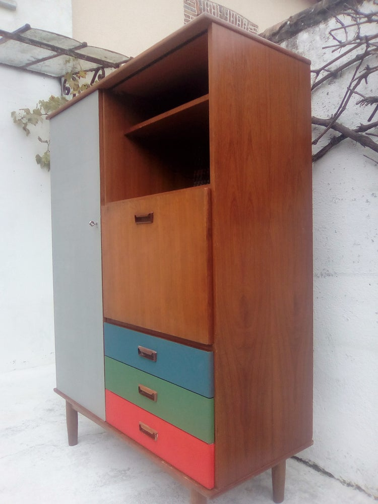 Image of Armoire secrétaire simple type scandinave