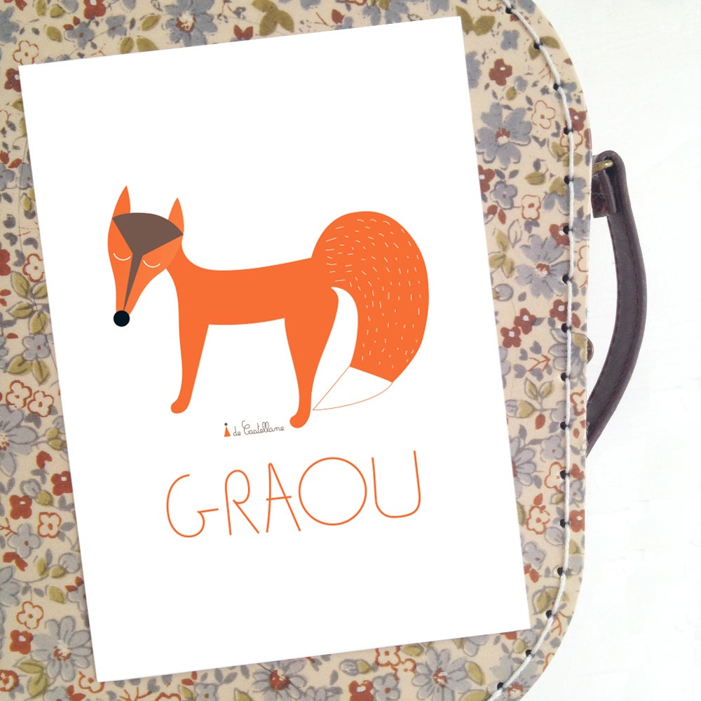 Image of Carte - Renard GRAOU (A6)