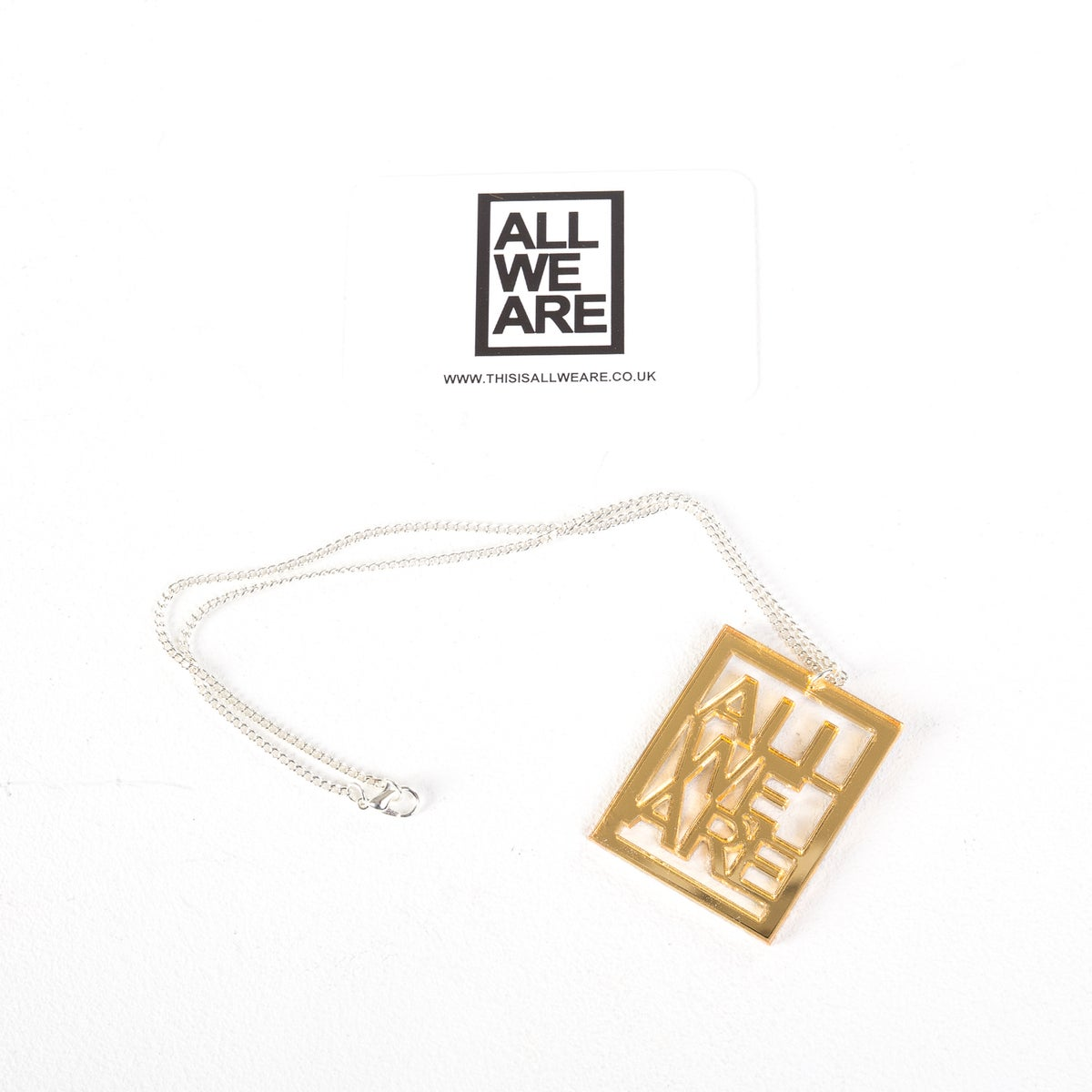 Image of All We Are Gold Necklace