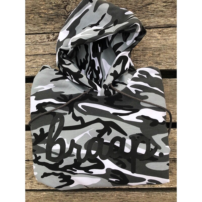 Image of PRE ORDER Ships the of Middle of December  Winter Camo Braap Hoodie