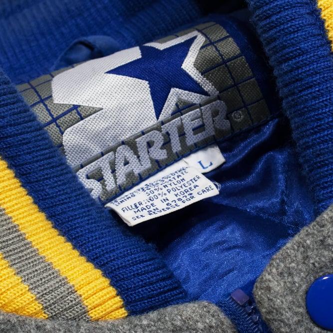 Image of Starter Wool Throwback St Louis Blues Varsity Jacket