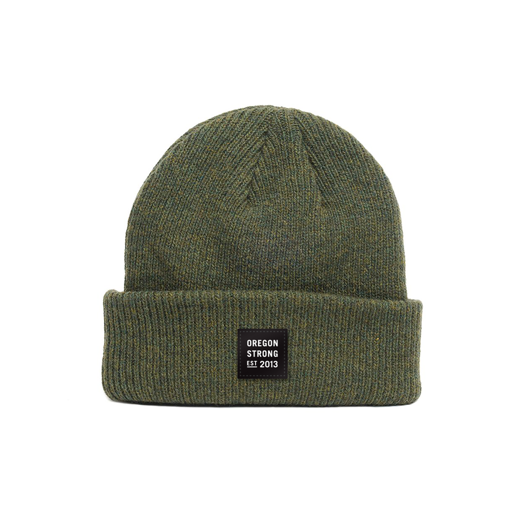 Image of Logo Patch Beanie - Military Green