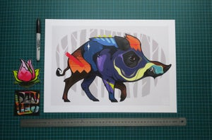 Image of BOAR A3 Art Print