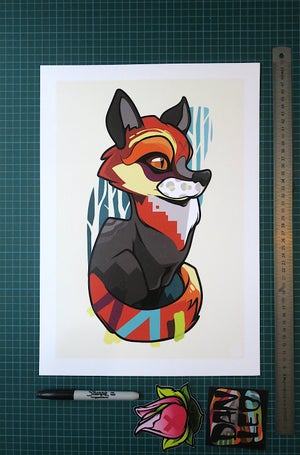 Image of Fox Cub A3 Art Print