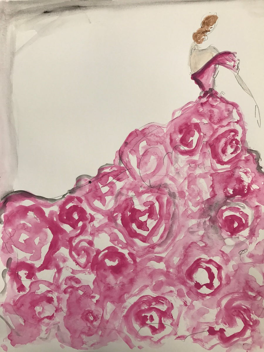 "Image of ""Wild Rose"" - Sketch Print"