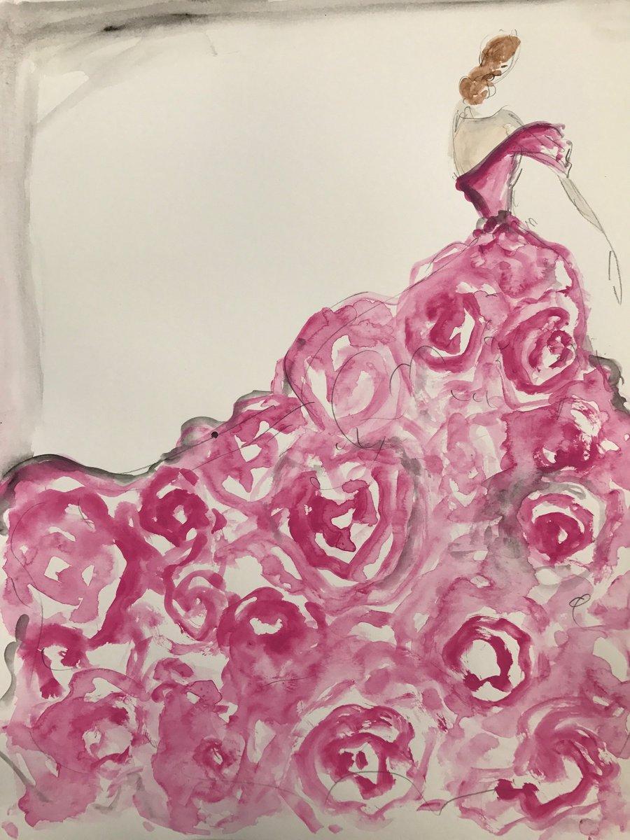 "Image of ""Wild Rose"" - Sketch Print"
