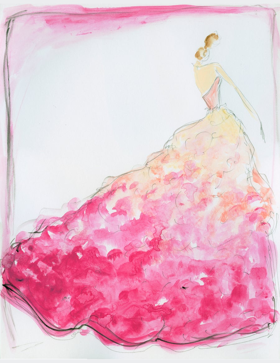 """Image of """"Ombre Bouquet"""" - Sketch Print"""