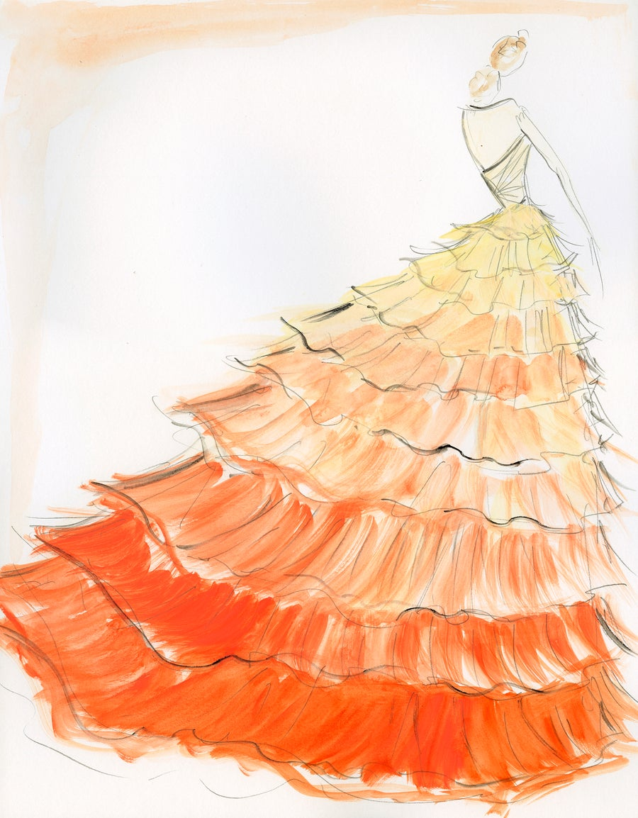"Image of ""Sunset Ombre"" - Sketch Print"