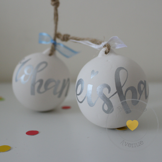 Image of Modern Calligraphy Bauble