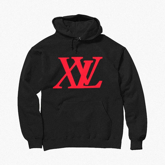Image of XvL Hoodie (Black-Red Logo)