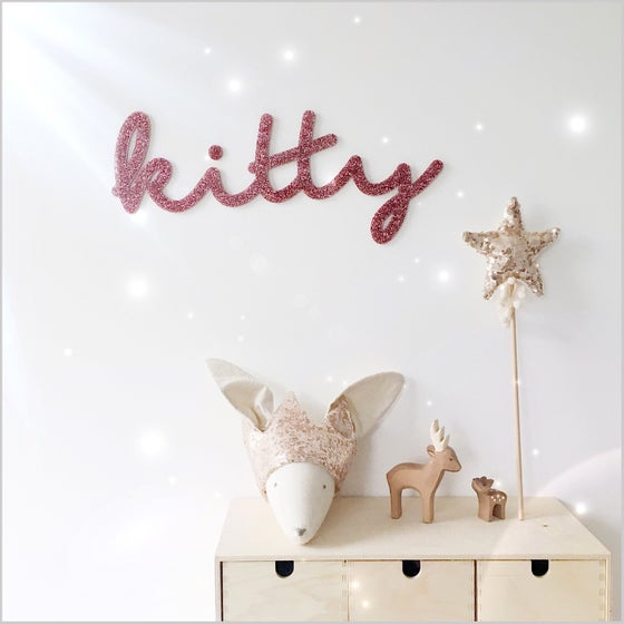 Image of Custom Acrylic Name Sign Glitter Large