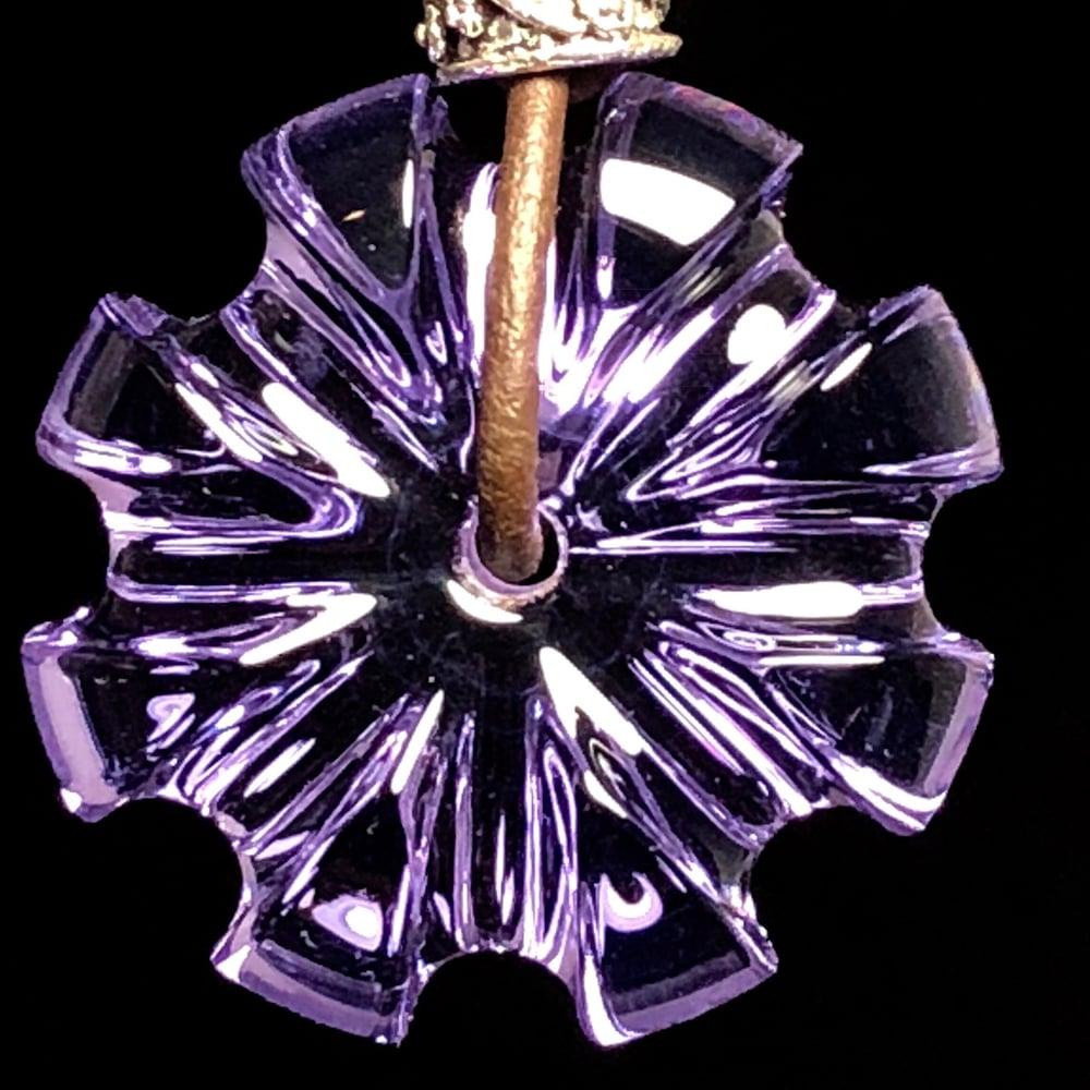 Image of MADE TO ORDER: U or V Carved Purple Rain CarverGem