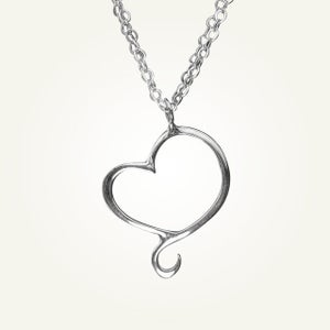 Image of Aphrodite Mini Heart Necklace, Sterling Silver
