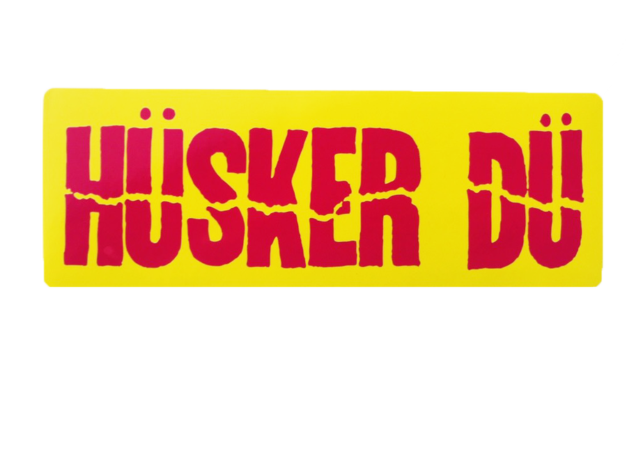 Image of HÜSKER DÜ CITRON GREEN AND HOT PINK STICKER