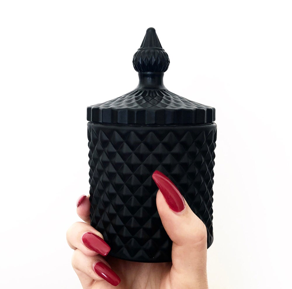 Image of MATTE BLACK GEO CANDLES