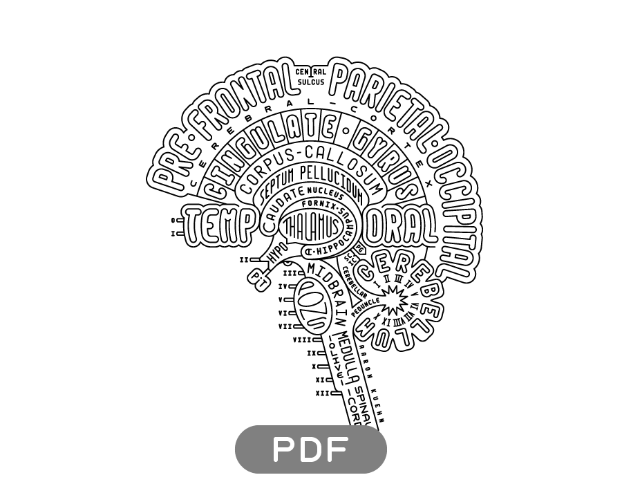 Image of Brain Typogram - PDF