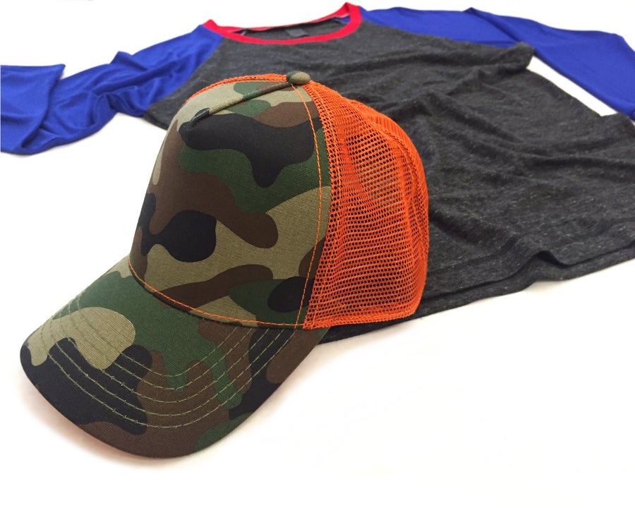 Image of Camo Mesh Trucker Hat