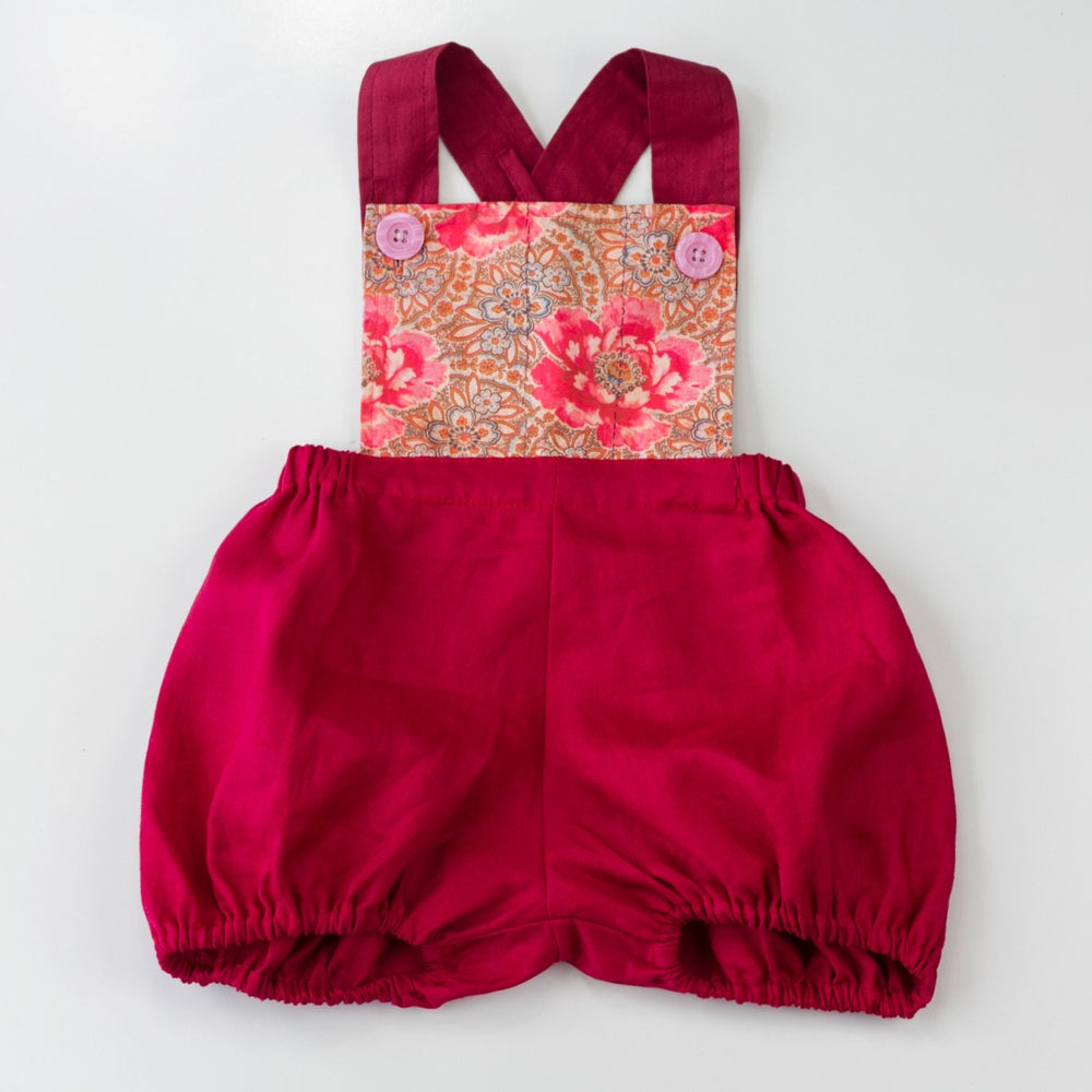 Image of Vintage Clancy Romper - Vintage Rose