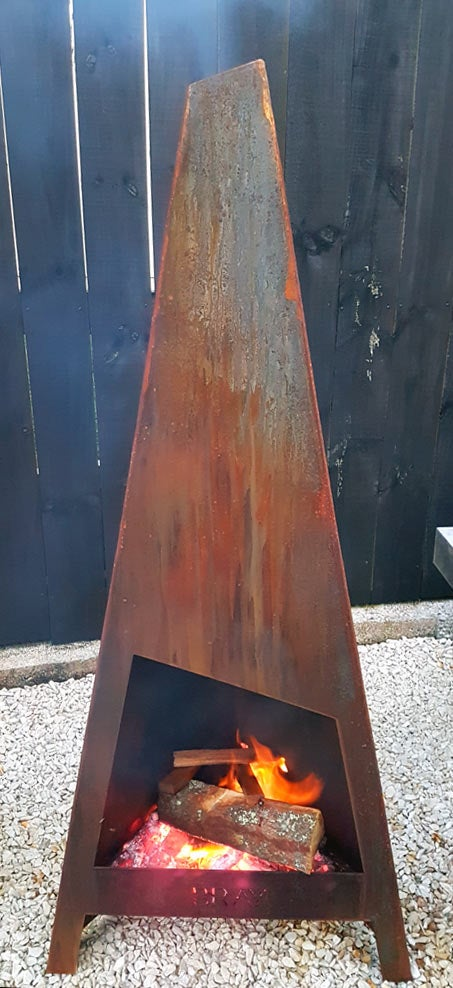 Image of AORAKI Corten Outdoor Fireplace