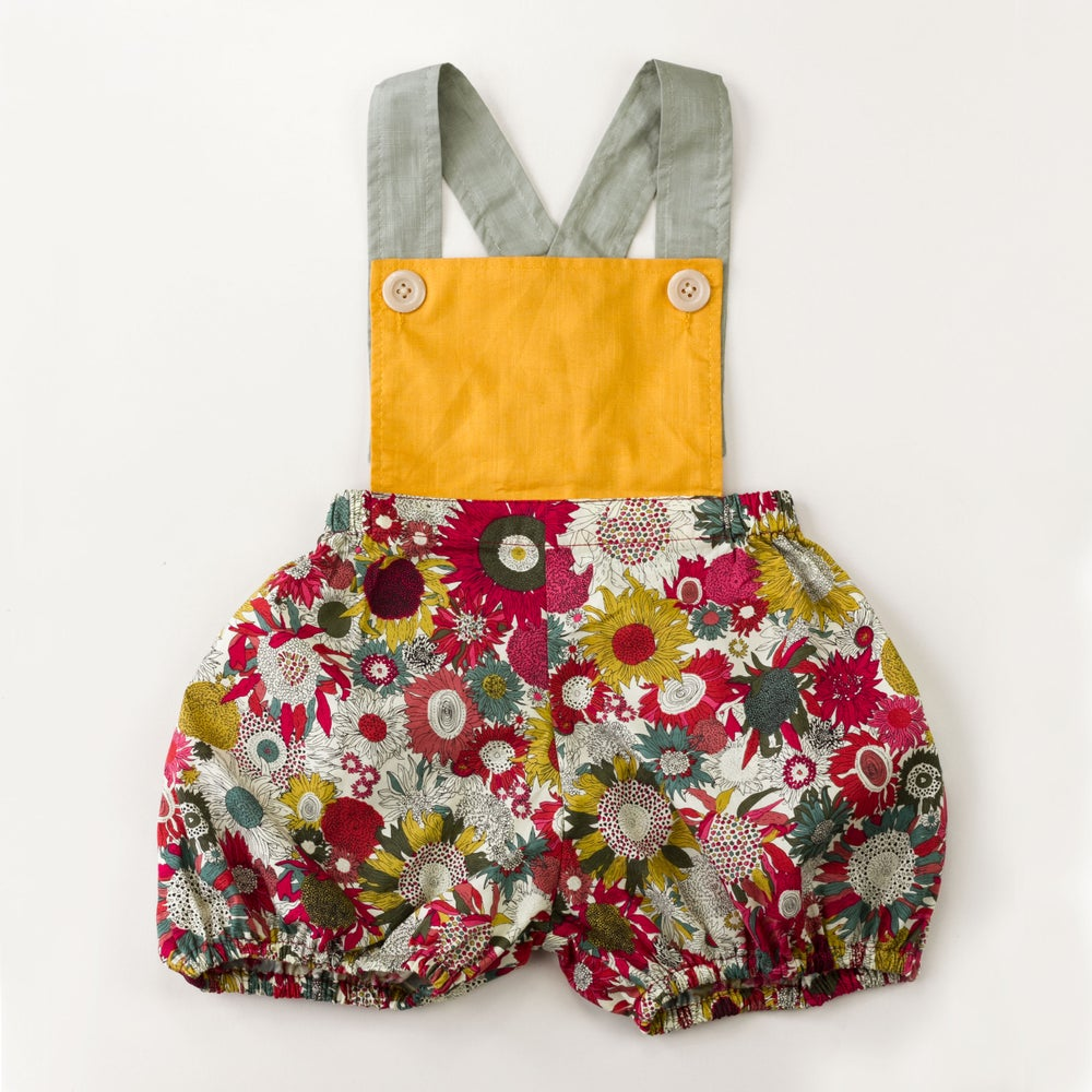 Image of Vintage Clancy Romper - Evening Sunflower