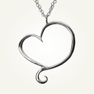 Image of Aphrodite Heart Necklace, Sterling Silver