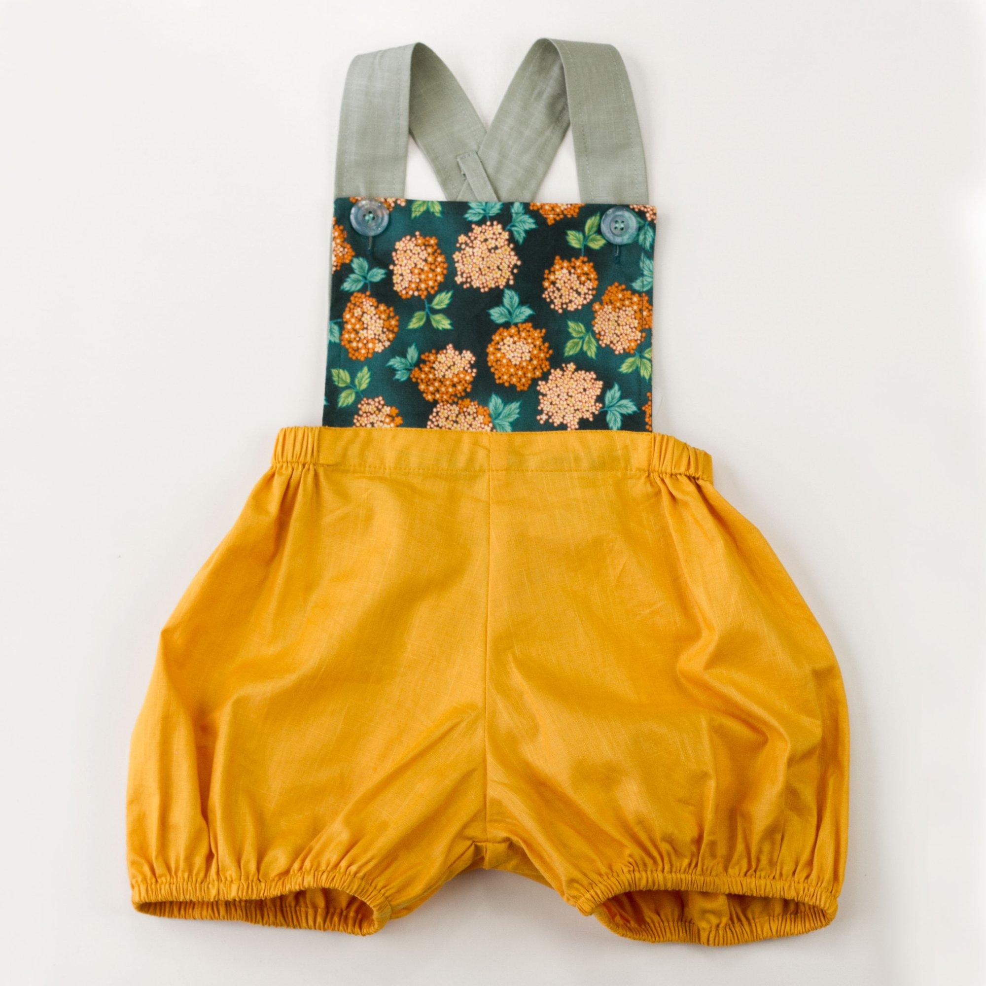 6135dcf34 www.nimbikids.com — Vintage Clancy Romper - Bloom Marigold
