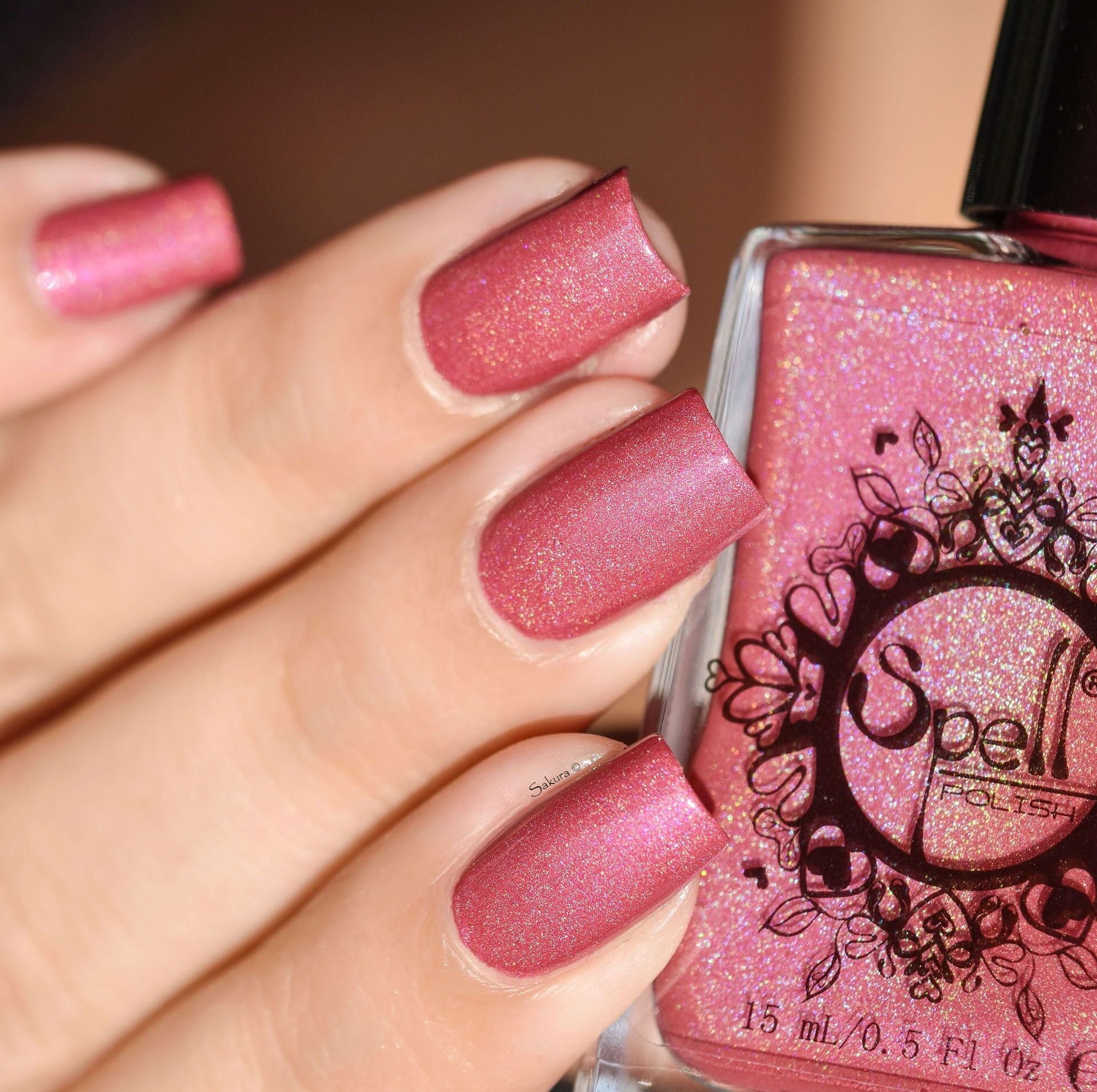 Pink Velvet~ warm creamy pink holo w/subtle cool magenta pink ...