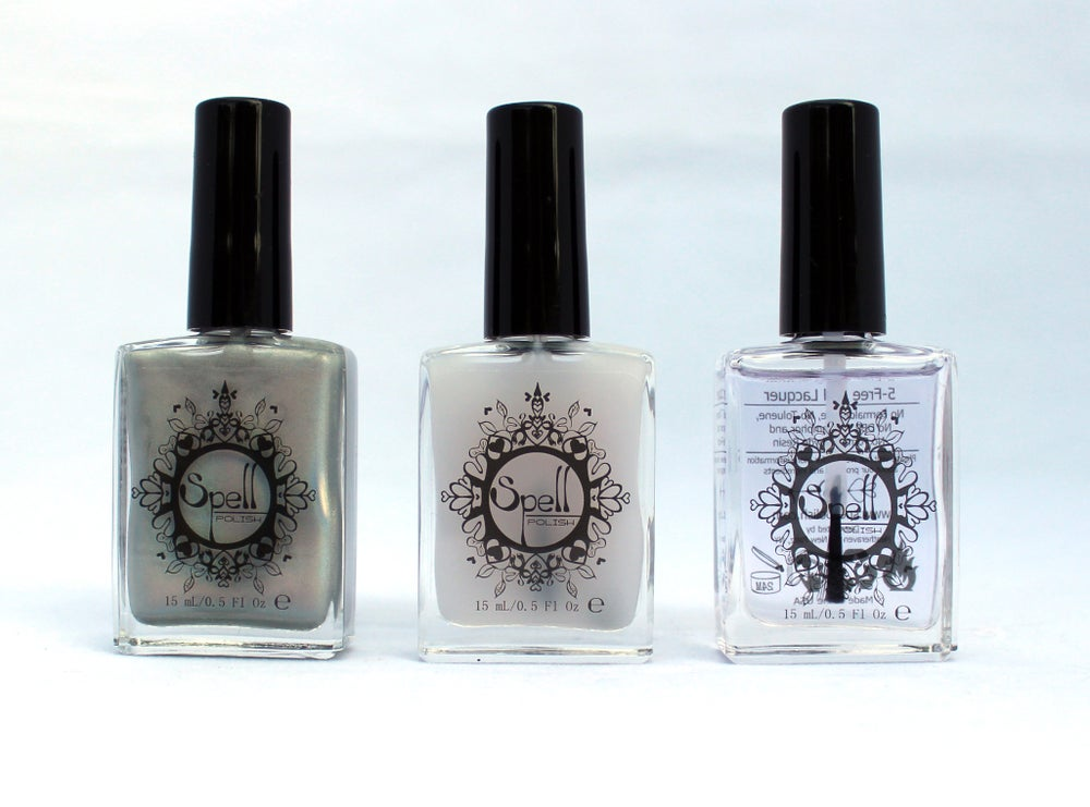 Image of TOP COATS & BASE ~nail care~ lacquer varnish SPELL POLISH .5 oz, 15 mL!