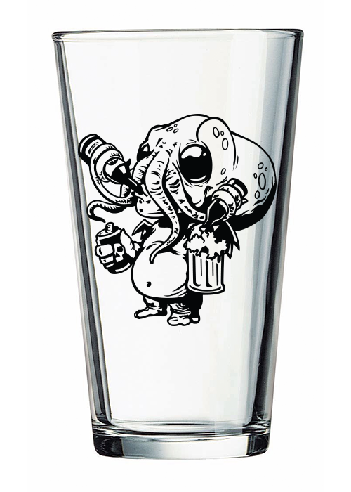 Image of Cthulhu Beer Monster Pint Glass (Pre-order)