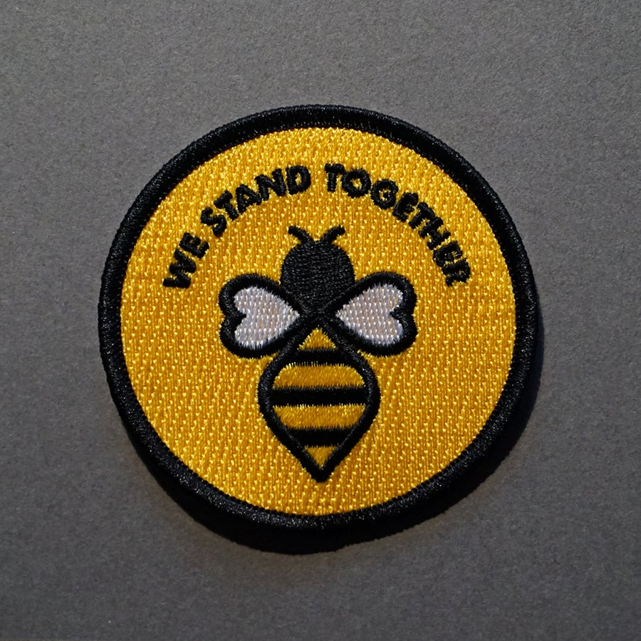 Image of Manchester #WeStandTogether Bee Iron-On Patch