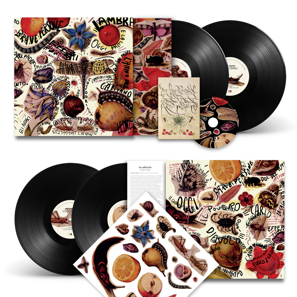 Image of Coccodrilli - Double Lp ltd. edition with illustration stickers, card and download code + CD