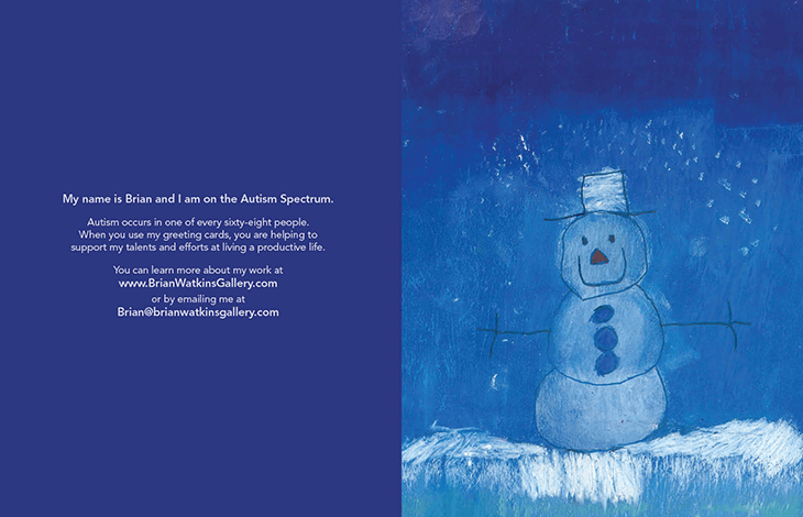 "Image of Nighttime Snowman <br> ""Wonder-Filled Holiday"""
