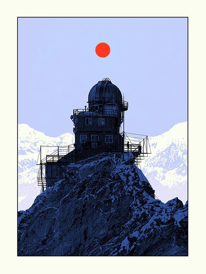 "Image of 7 COPIES LEFT - ""Sphinx Observatory : Black Hole"""