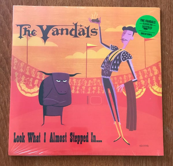 Image of The Vandals - Look What I Almost Stepped In -  Green Vinyl , Promo'd & Sealed.