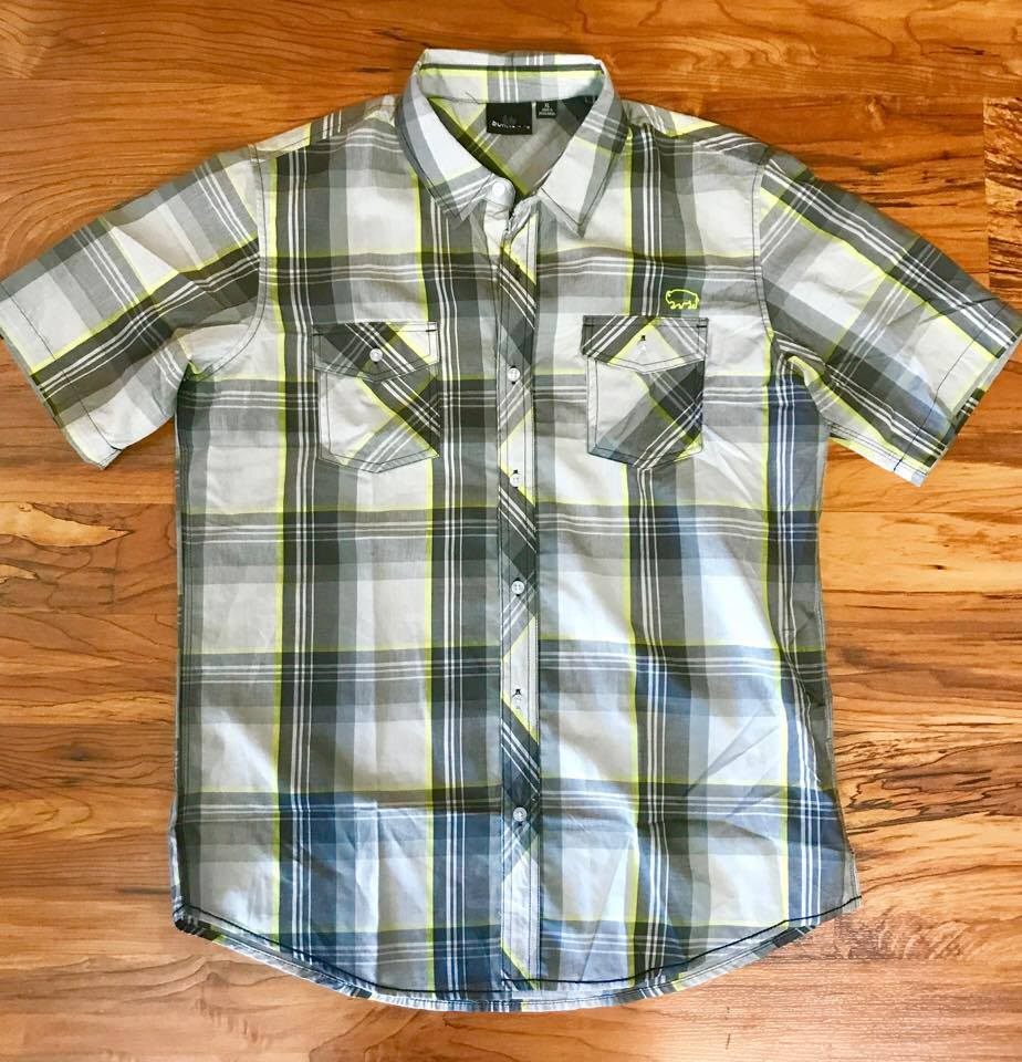 Image of Bison Short Sleeve Plaid Shirt