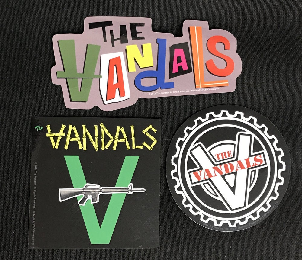 Image of The Vandals:  Over-sized Sticker Pack!