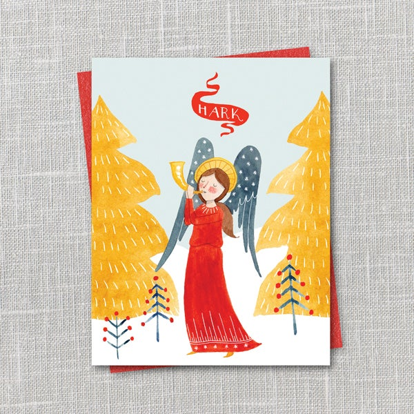 Image of Hark! Holiday Notecard Instant Download PDF