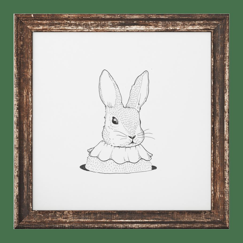 Image of Holy Bunny Print