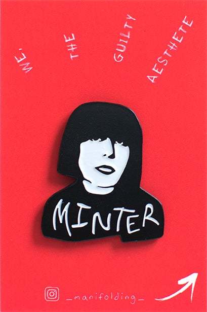 Image of Marilyn Minter Soft Enamel Pin
