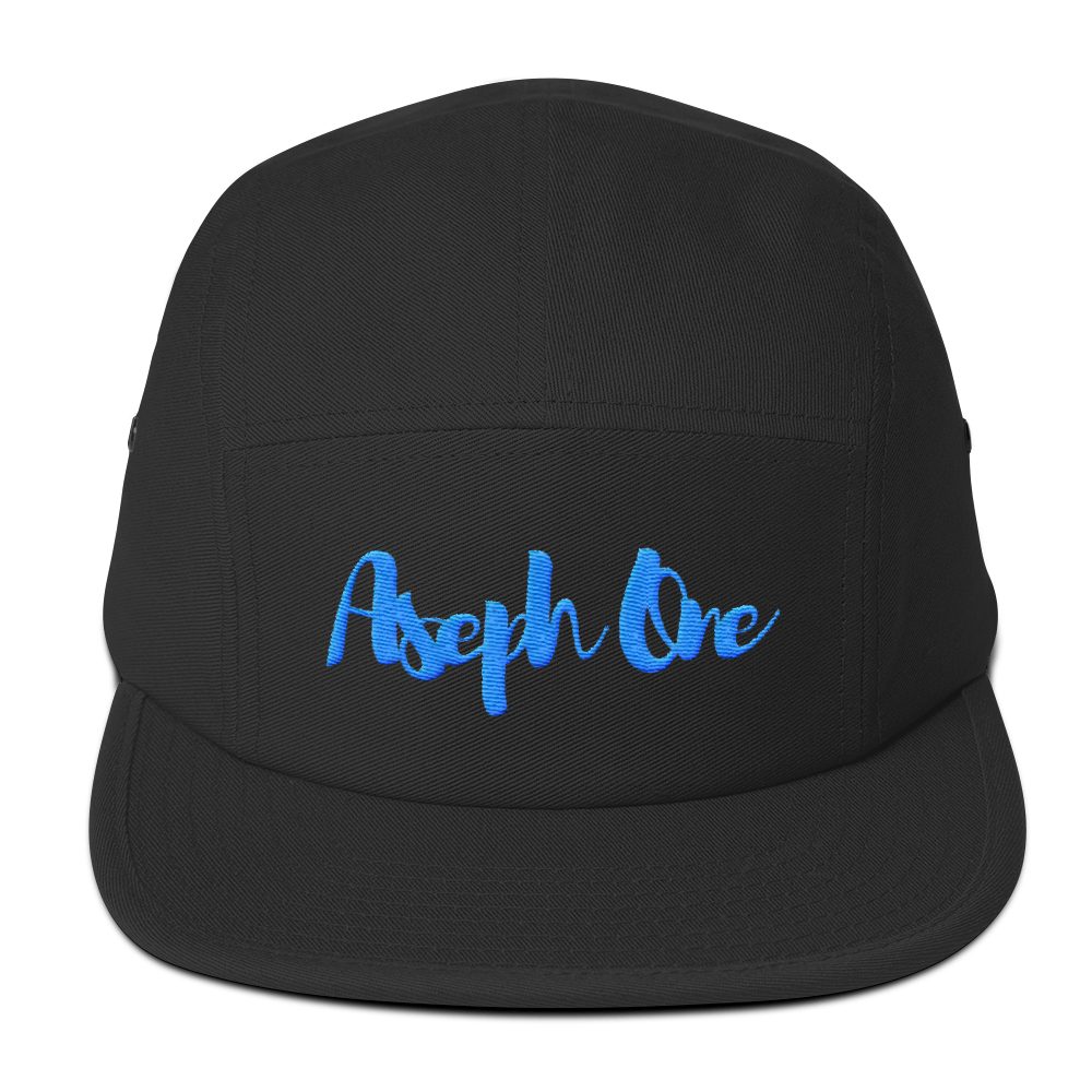 Image of Pronto Street Mobber Black Aqua 5 Panel Hat