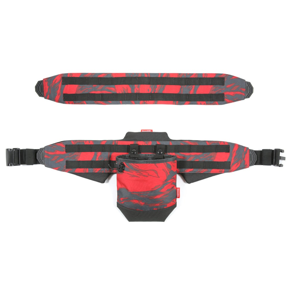 Image of SpeedQB Molle-Cule™ Complete System (MCS) - Red Tiger Stripe