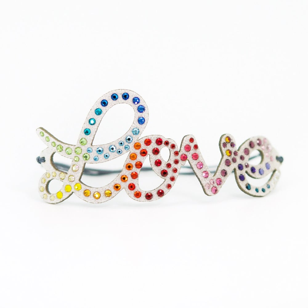 Image of BONHEUR - Scritta LOVE Multicolor